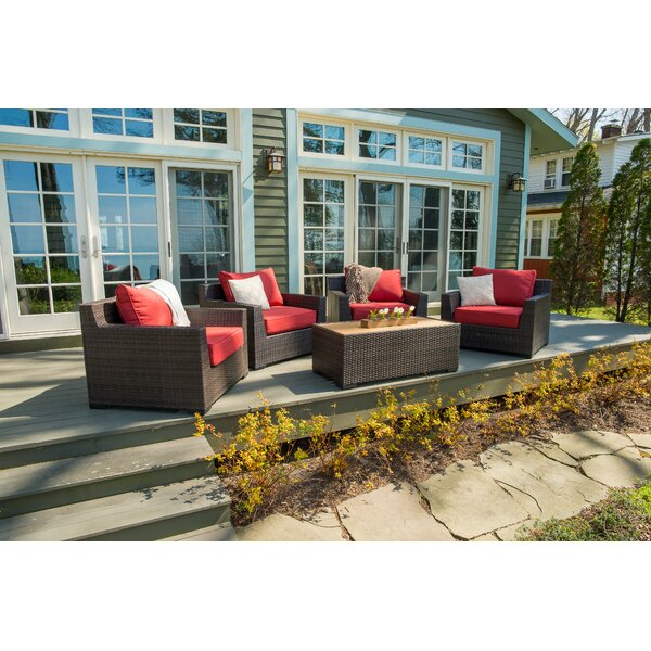 Coast 11 Piece Rattan Sectional Seating Group with Cushions by Rosecliff Heights