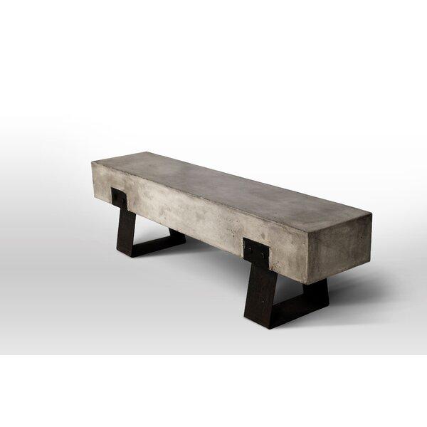 David Metal and Concrete Picnic Bench by Trent Austin Design Trent Austin Design