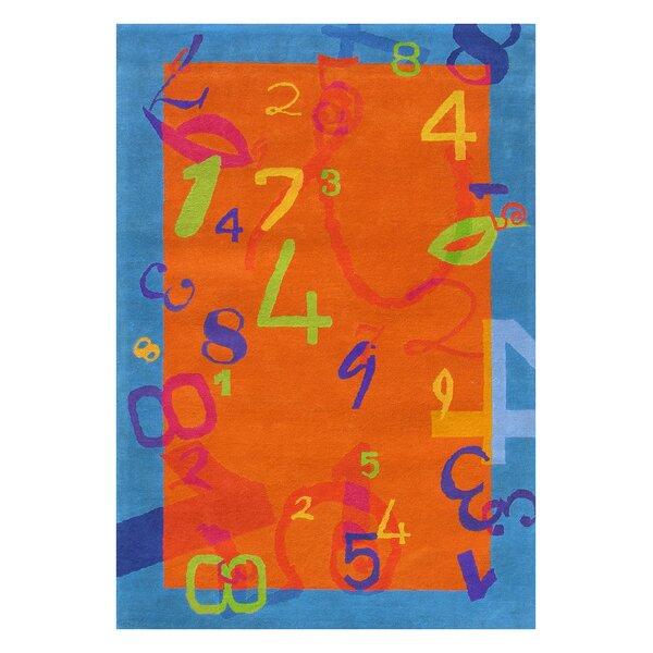 Fantasia Tufted Wool Orange/Blue Area Rug by Dynamic Rugs