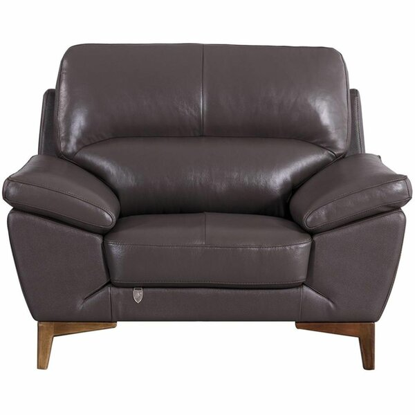 Runner Leatherette Upholstered Wooden Armchair by Brayden Studio