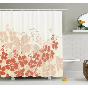 Affordable Floral Hawaii Tropical Shower Curtain Set ByAmbesonne