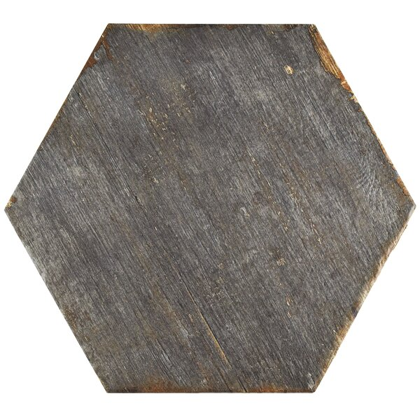 Rama Hexagon 14.13 x 16.25 Porcelain Mosaic Tile in Gray by EliteTile