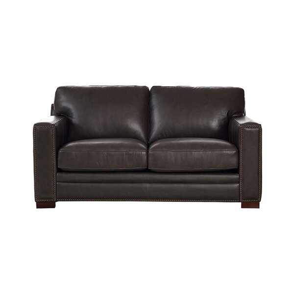 Neil Leather Loveseat By Trent Austin Design