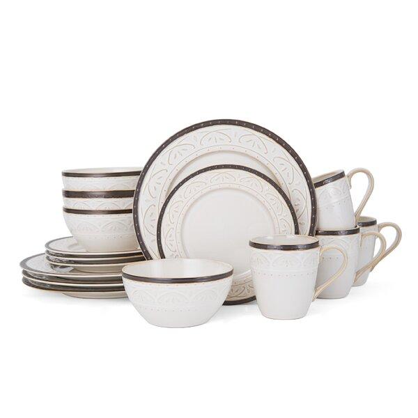 Scroll Promenade 16 Piece Dinnerware Set, Service for 4 by Pfaltzgraff