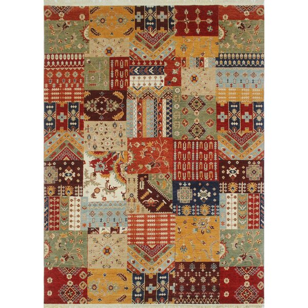 One-of-a-Kind Trevor Khaleeq Hand-Knotted Wool Red Area Rug by Bloomsbury Market