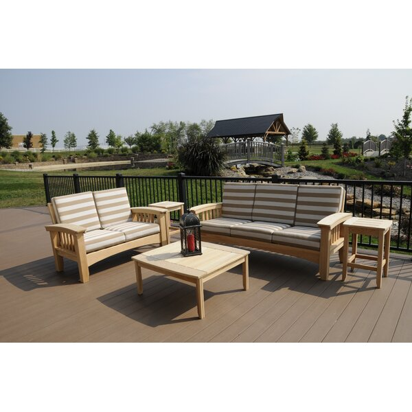 Omar 5 Piece Sunbrella Sofa Seating Group with Sunbrella Cushions by Rosecliff Heights