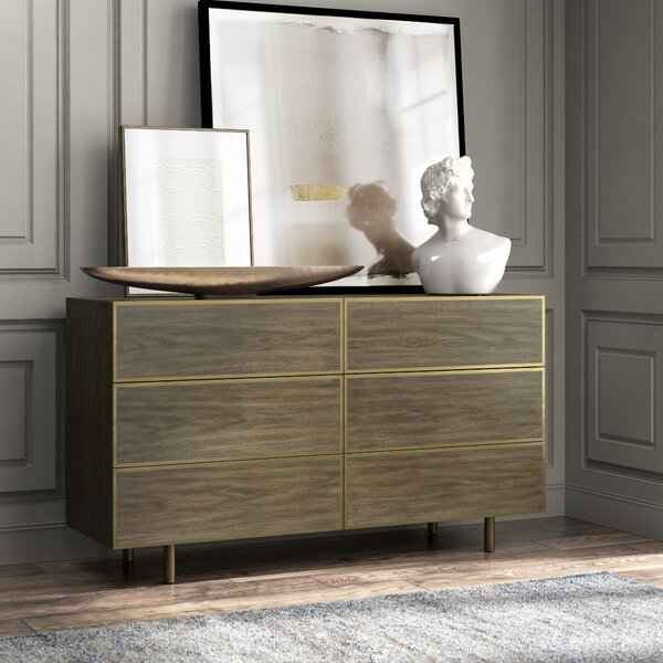 Profile 6 Drawer Double Dresser by Bernhardt