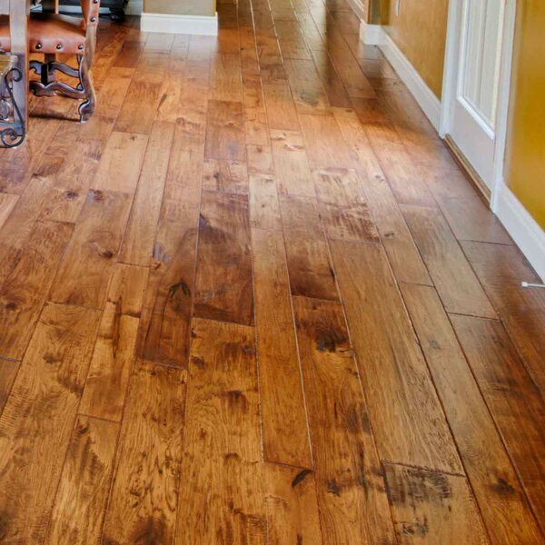 Hudson Bay Random Width Engineered Hickory Hardwood Flooring in Victoria by Albero Valley