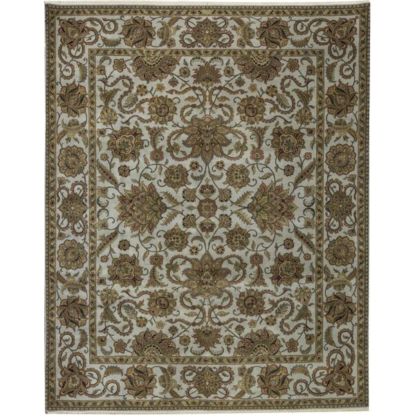 One-of-a-Kind Trinity Hand-Knotted Beige/Cream 12' x 14'11 Wool Area Rug
