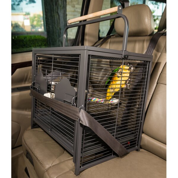 Endymion Travel Carrier Bird Cage with Removable Tray by Archie & Oscar