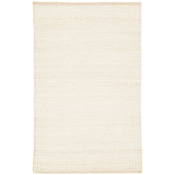 Prentiss Natural Solid Hand-Woven Cream Area Rug by Union Rustic