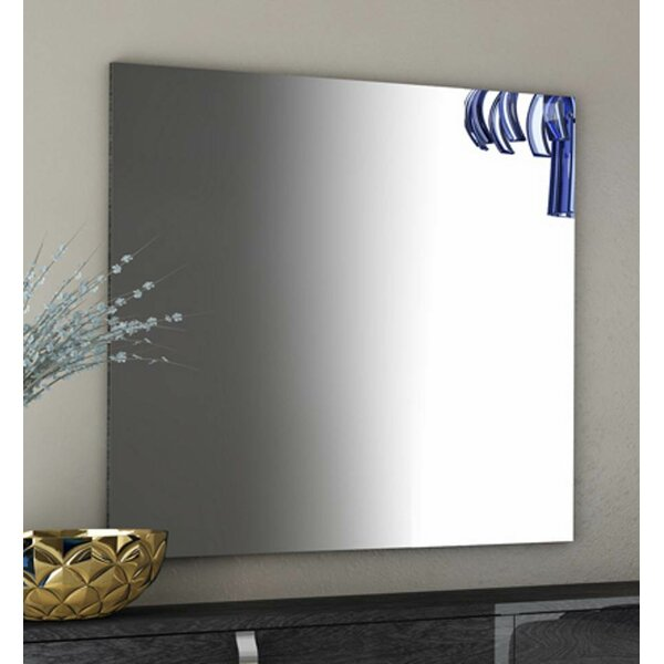 Flanagan Modern High Gloss Frameless Shaving Mirror by Ebern Designs