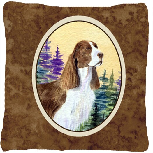 Brown Springer Spaniel Indoor/Outdoor Throw Pillow by East Urban Home