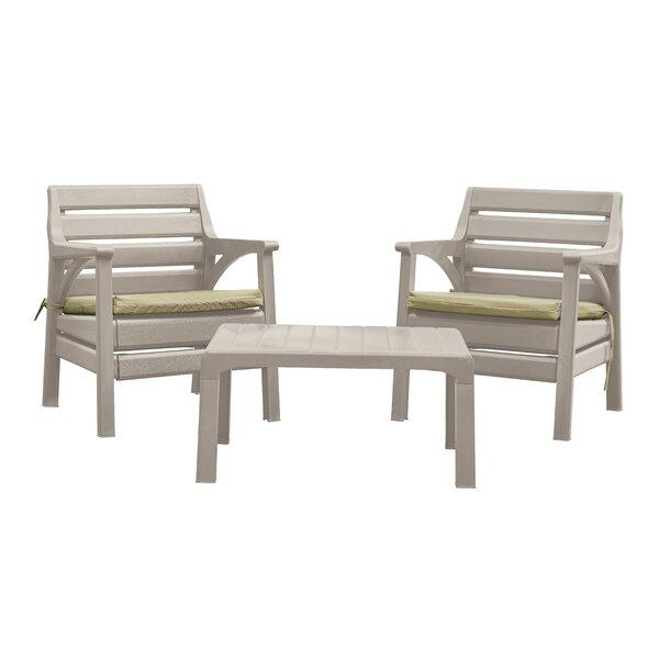 Kogut Premium 3 Piece Seating Group with Cushions by Latitude Run