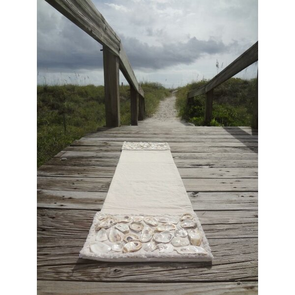 Palisade Natural Coastal Canvas Table Runner by Rosecliff Heights