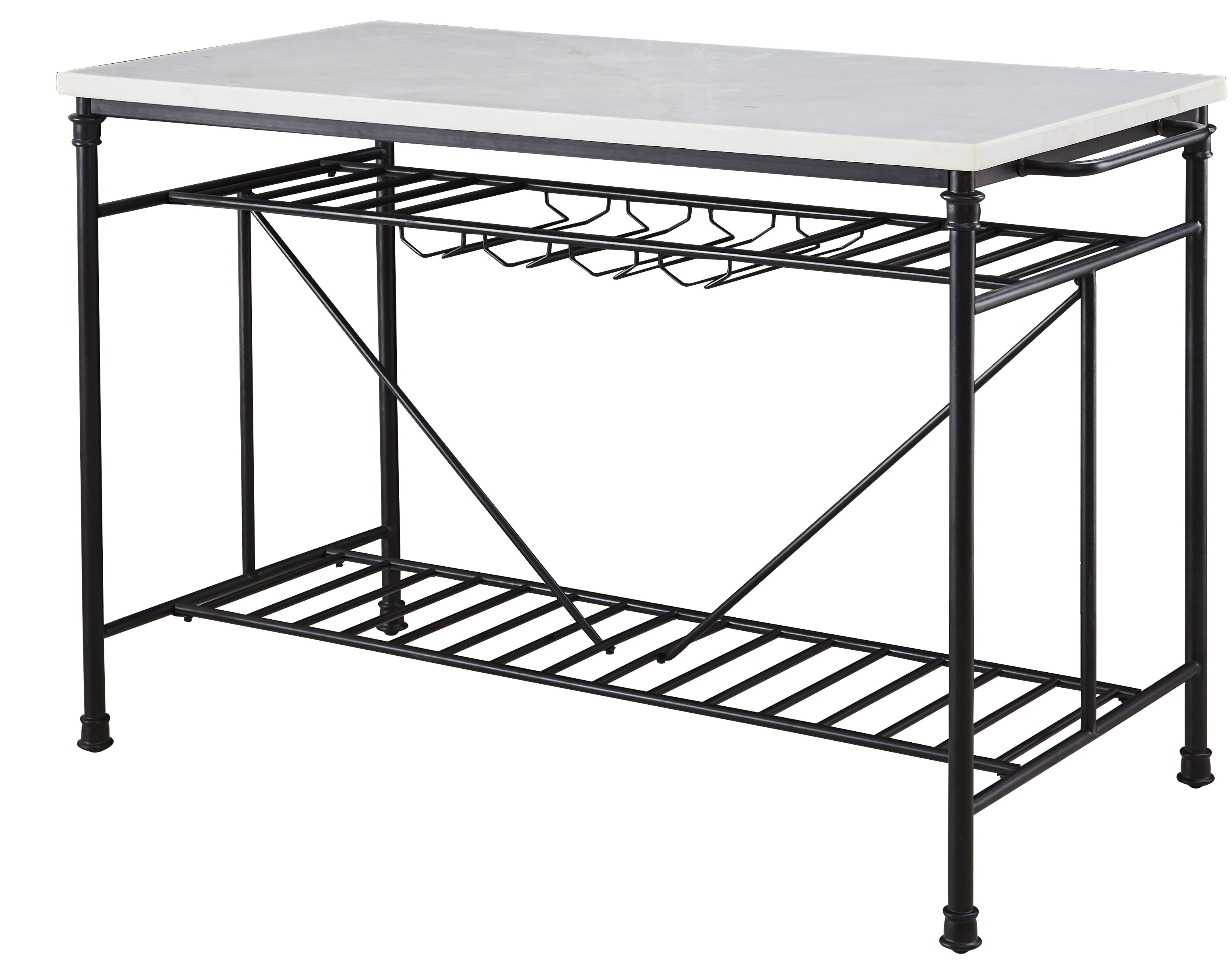 Mcdaniel Kitchen Island with Marble Top