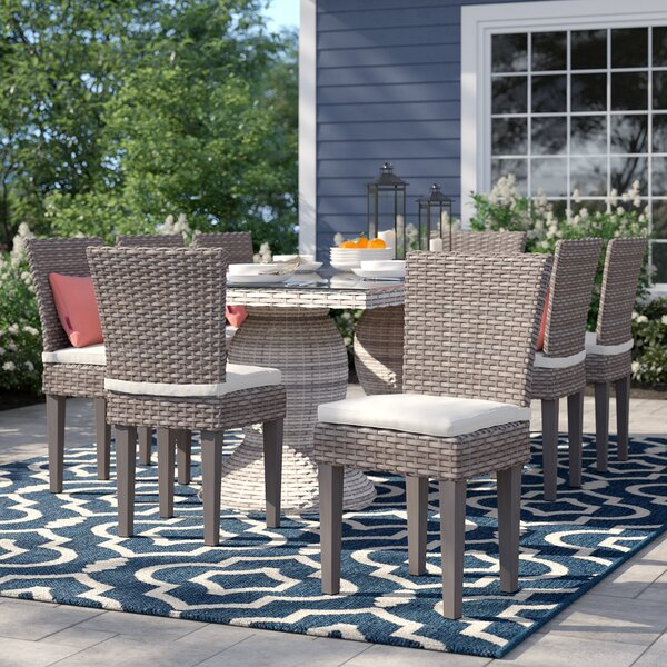 Rockport Patio Dining Chair with Cushion (Set of 8) by Sol 72 Outdoor