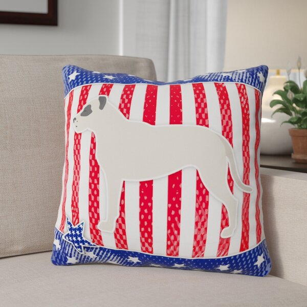 Patriotic Modern Square Indoor/Outdoor Throw Pillow by The Holiday Aisle