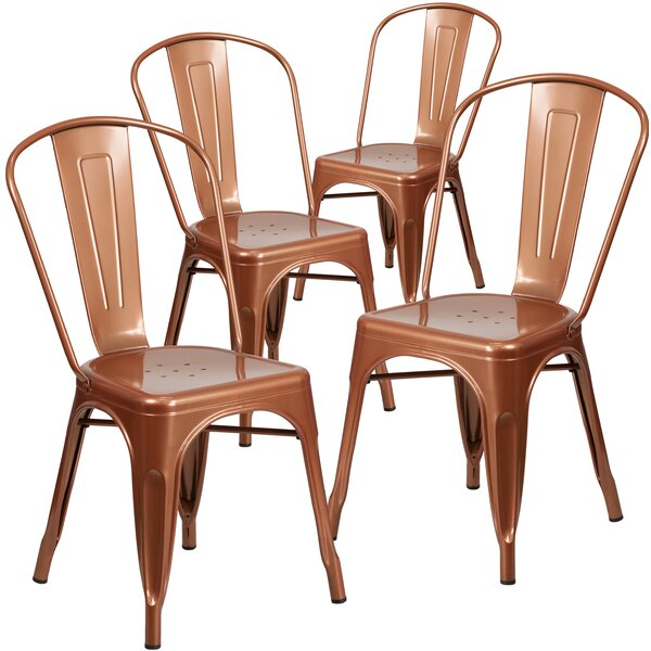 Armless Stacking Dining Chair (Set of 4) by Flash Furniture