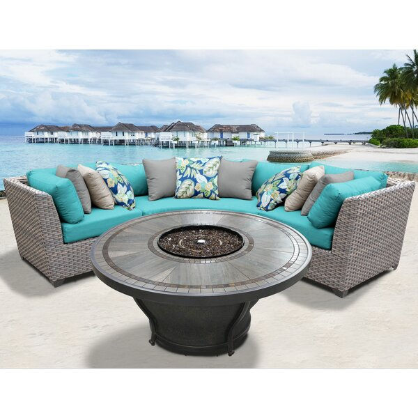 Romford 4 Piece Sectional Seating Group with Cushions by Sol 72 Outdoor