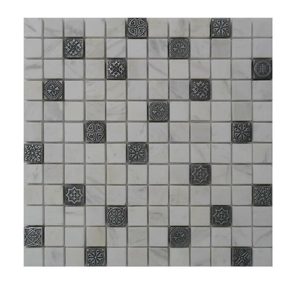 Glass Mosaic Tile in Gray/Black by QDI Surfaces
