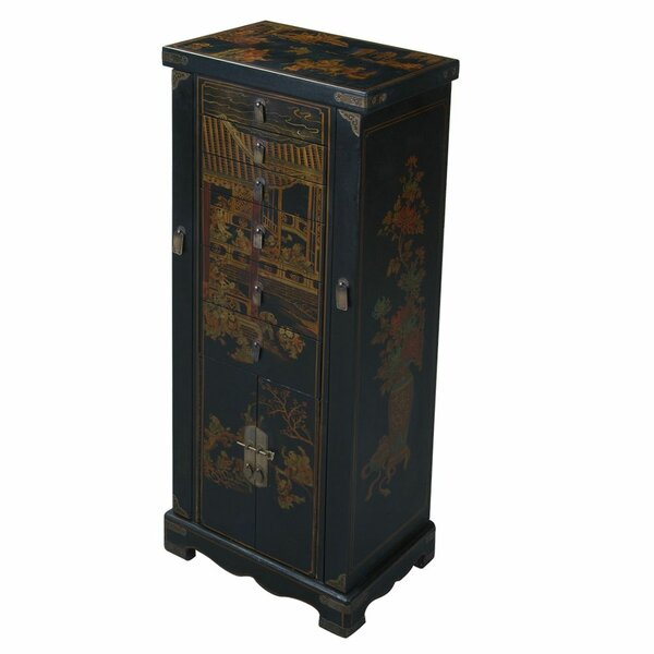 Handmade Oriental Antique Style Jewelry Armoire by EXP Décor