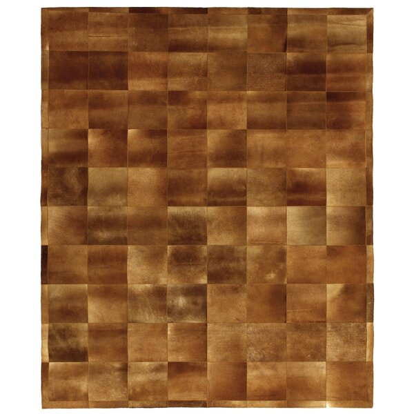 Natural Hide Hand-Tufted Cowhide Tan Area Rug by Exquisite Rugs