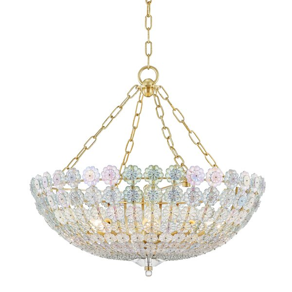 Brette 8 - Light Shaded Empire Chandelier by Rosdorf Park Rosdorf Park