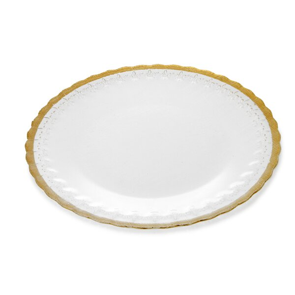 Trophy Plates Fleur Dinner plate (Set of 4) by Classic Touch