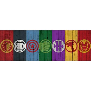 'Comics Avengers Symbols' by Marvel Comics Wall Art on Wrapped Canvas by East Urban Home