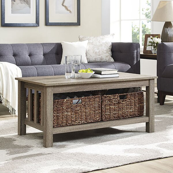 Denning Storage Coffee Table by Andover Mills