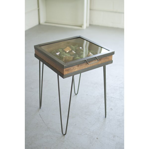 Display Table with Hinged Glass Top by Kalalou