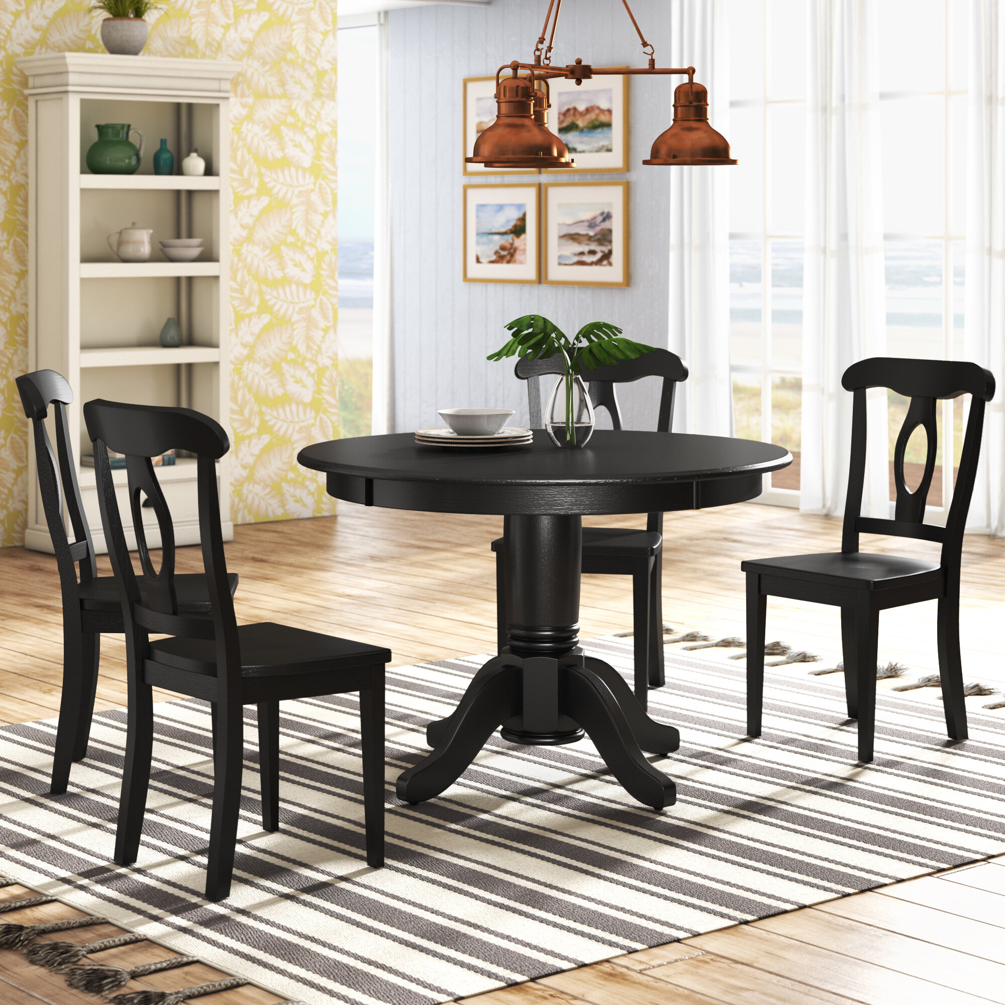 Wayfair | Black Kitchen & Dining Room Sets You'll Love in 2021