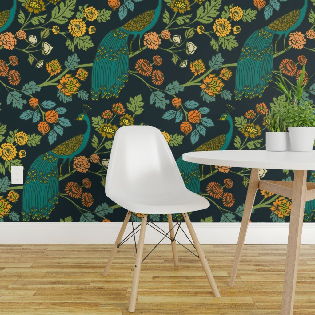 Bungalow Rose Tormarton Chinoiserie Wallpaper Panel Wayfair