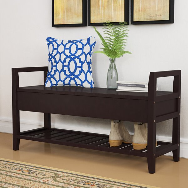 Jacquelyn Espresso Storage Shoe Bench by Winston Porter
