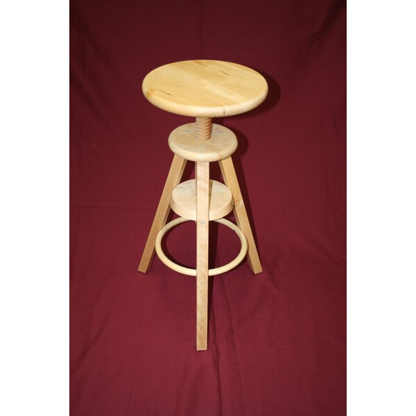 Wooden Adjustable Stool by eHemco