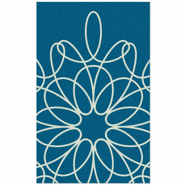 Ribbon Hand-Tufted Turquoise Area Rug by notNeutral