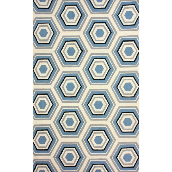 Heritage Hand-Hooked Wool Light Blue Area Rug by nuLOOM