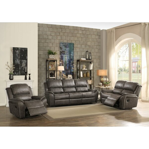 Tinoco Reclining Motion 3 Piece Living Room Set by Latitude Run