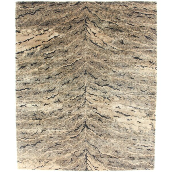 Metropolitan Hand Knotted Wool Brown Area Rug by Exquisite Rugs