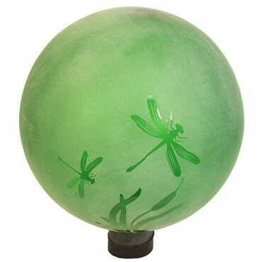 Etched Jade Dragonfly Gazing Globe by Echo Valley