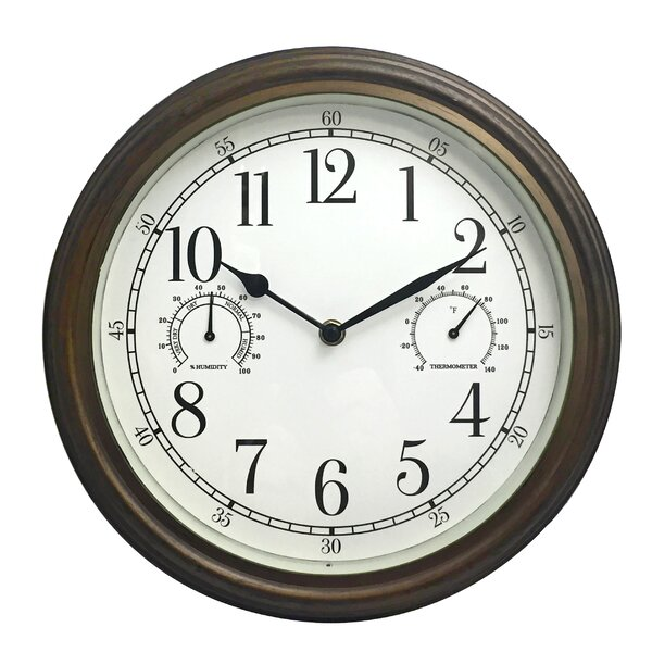 Broadalbin Indoor/Outdoor 12 Wall Clock by Charlton Home