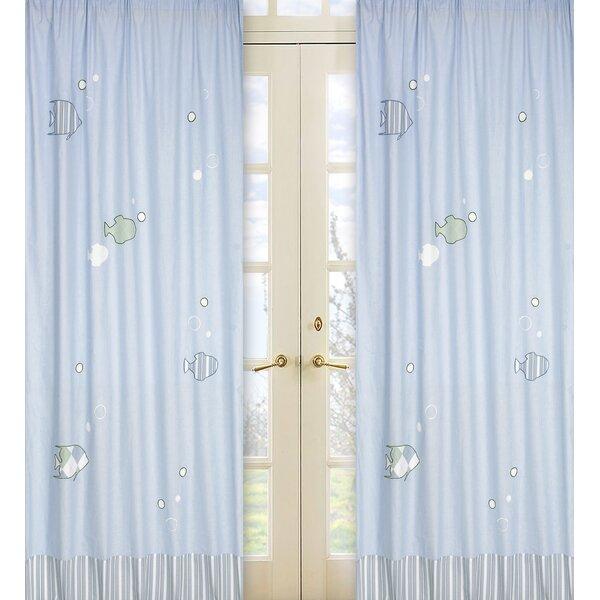 Go Fish Nautical Semi-Sheer Rod Pocket Curtain Panels (Set of 2) by Sweet Jojo Designs