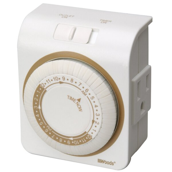 24 Hour Indoor Mechanical Lamp and Appliance Timer by Coleman Cable