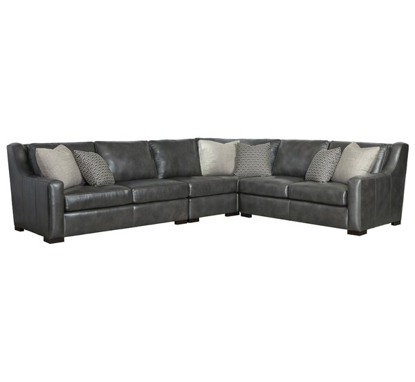 Review Germain Leather Symmetrical Sectional