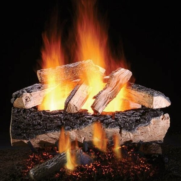 Magnificent Split Oak Vented Natural Gas/Propane Fireplace Log Set By HargroveGasLogs