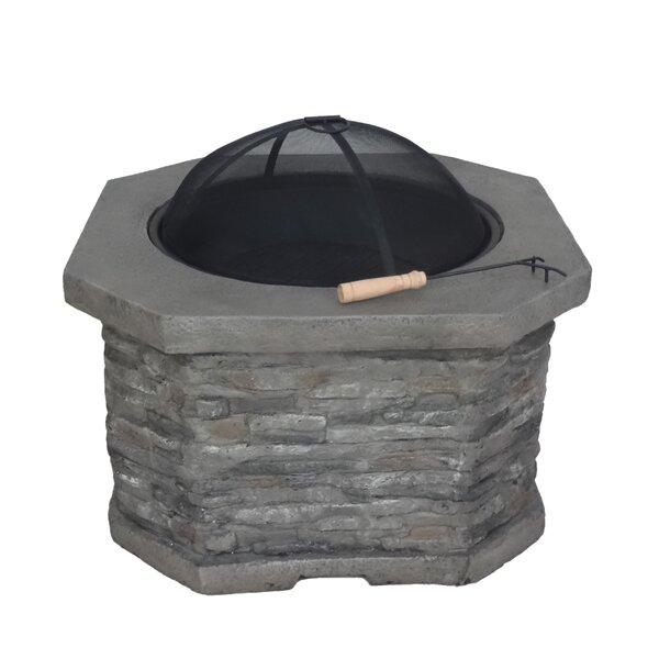 Wilkinson Concrete Wood Burning Fire Pit by Loon Peak