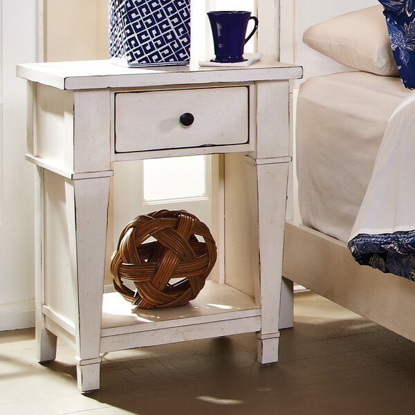 Defelice French Wood 1 Drawer Nightstand By Highland Dunes