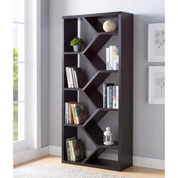 Sion Vertical Accent Geometric Bookcase By Latitude Run