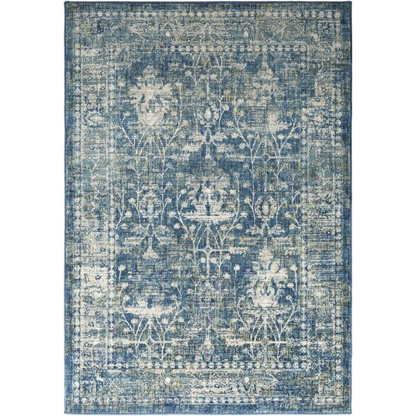 Ipasha Teal/Navy Area Rug by Trent Austin Design